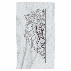 Рушник Low poly lion head