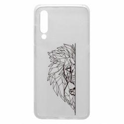 Чохол для Xiaomi Mi9 Low poly lion head