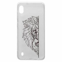 Чохол для Samsung A10 Low poly lion head