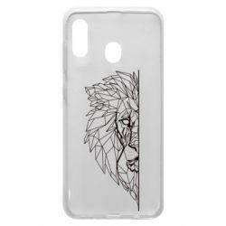 Чохол для Samsung A20 Low poly lion head