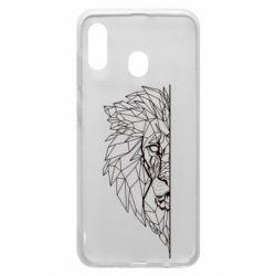 Чохол для Samsung A30 Low poly lion head