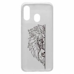 Чохол для Samsung A40 Low poly lion head