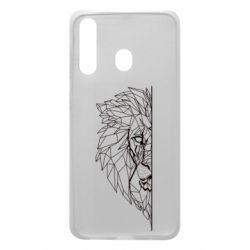 Чохол для Samsung A60 Low poly lion head