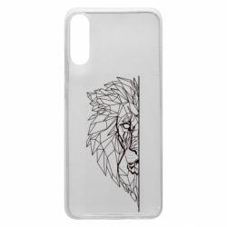 Чохол для Samsung A70 Low poly lion head