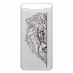 Чохол для Samsung A80 Low poly lion head