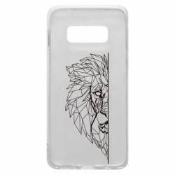 Чохол для Samsung S10e Low poly lion head