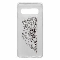 Чохол для Samsung S10 Low poly lion head
