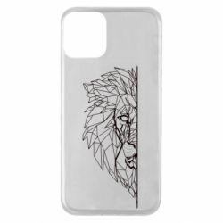 Чохол для iPhone 11 Low poly lion head