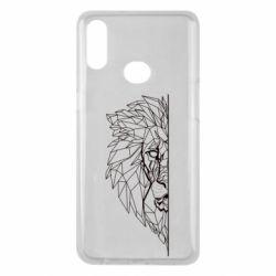 Чохол для Samsung A10s Low poly lion head