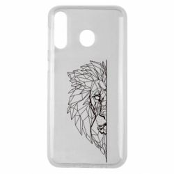 Чохол для Samsung M30 Low poly lion head