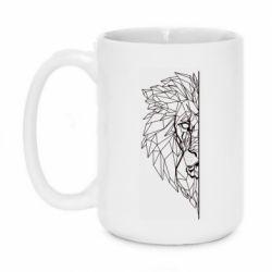Кружка 420ml Low poly lion head