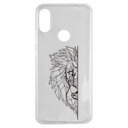 Чохол для Xiaomi Redmi Note 7 Low poly lion head