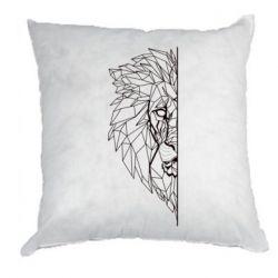 Подушка Low poly lion head
