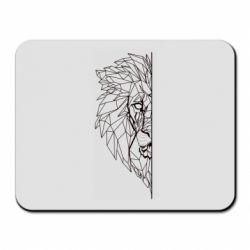 Килимок для миші Low poly lion head