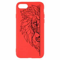 Чохол для iPhone 7 Low poly lion head