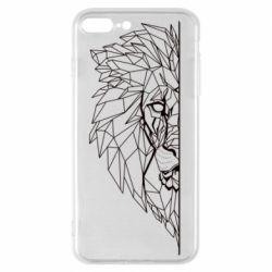 Чохол для iPhone 7 Plus Low poly lion head