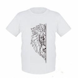Дитяча футболка Low poly lion head