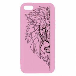 Чохол для iphone 5/5S/SE Low poly lion head