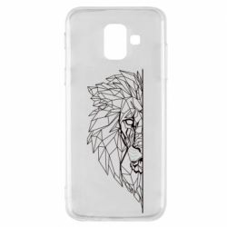Чохол для Samsung A6 2018 Low poly lion head