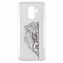 Чохол для Samsung A6+ 2018 Low poly lion head