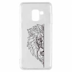 Чохол для Samsung A8 2018 Low poly lion head