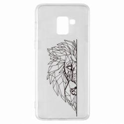 Чохол для Samsung A8+ 2018 Low poly lion head