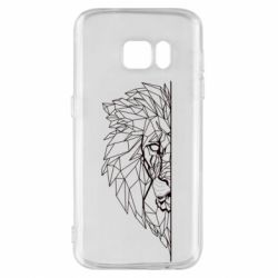 Чохол для Samsung S7 Low poly lion head