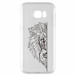 Чохол для Samsung S7 EDGE Low poly lion head