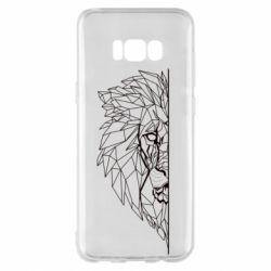 Чохол для Samsung S8+ Low poly lion head