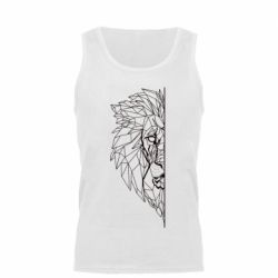 Майка чоловіча Low poly lion head