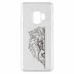Чохол для Samsung S9 Low poly lion head
