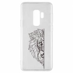Чохол для Samsung S9+ Low poly lion head