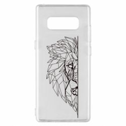 Чохол для Samsung Note 8 Low poly lion head
