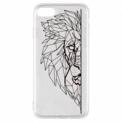 Чохол для iPhone 8 Low poly lion head
