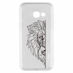 Чохол для Samsung A3 2017 Low poly lion head