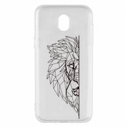 Чохол для Samsung J5 2017 Low poly lion head