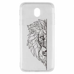 Чохол для Samsung J7 2017 Low poly lion head