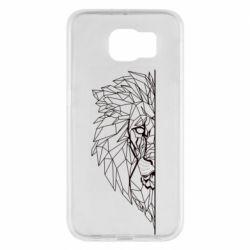 Чохол для Samsung S6 Low poly lion head