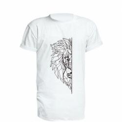 Подовжена футболка Low poly lion head