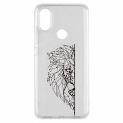 Чохол для Xiaomi Mi A2 Low poly lion head
