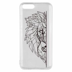 Чохол для Xiaomi Mi6 Low poly lion head