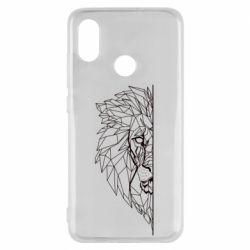 Чохол для Xiaomi Mi8 Low poly lion head