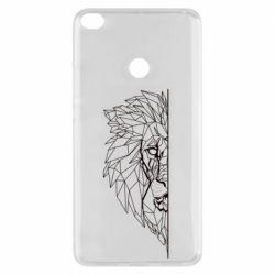Чохол для Xiaomi Mi Max 2 Low poly lion head