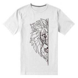 Чоловіча стрейчева футболка Low poly lion head