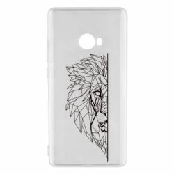 Чохол для Xiaomi Mi Note 2 Low poly lion head