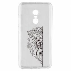 Чохол для Xiaomi Redmi Note 4 Low poly lion head