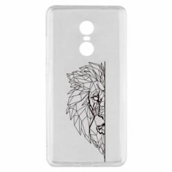 Чохол для Xiaomi Redmi Note 4x Low poly lion head