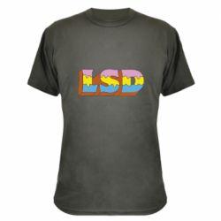 Камуфляжна футболка Lsd text