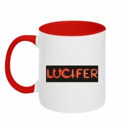 Кружка двоколірна 320ml Lucifer