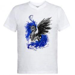 Купить Мужская футболка с V-образным вырезом Лунная пони, FatLine